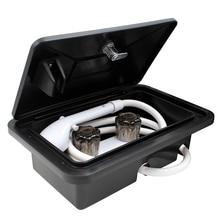 Shower-Box-Kit Caravan-Accessories Lock Boat Camper Motorhome RV Exterior White