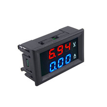 Portable 0 56 #8243 Dual Display Auto Car Digital Voltmeter Ammeter DC 100V 10A Panel Amp Volt Voltage Current Meter Tester Detector cheap Chodosimee Electrical Digital Only -10+-65 High DHT613