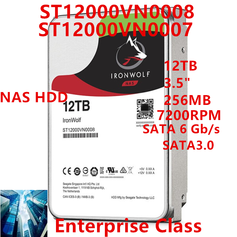 """New HDD For Seagate Brand 12TB 3.5"""" 256MB 7200RPM For Internal Hard Disk For NAS Hard Drive For ST12000VN0008 ST12000VN0007 1"""