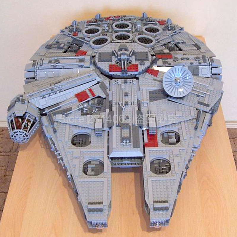 05033 5265Pcs Star Wars Battle Ultimate Collector's Falcon Building Blocks Child Toys Christmas Gifts Compatible With 10179