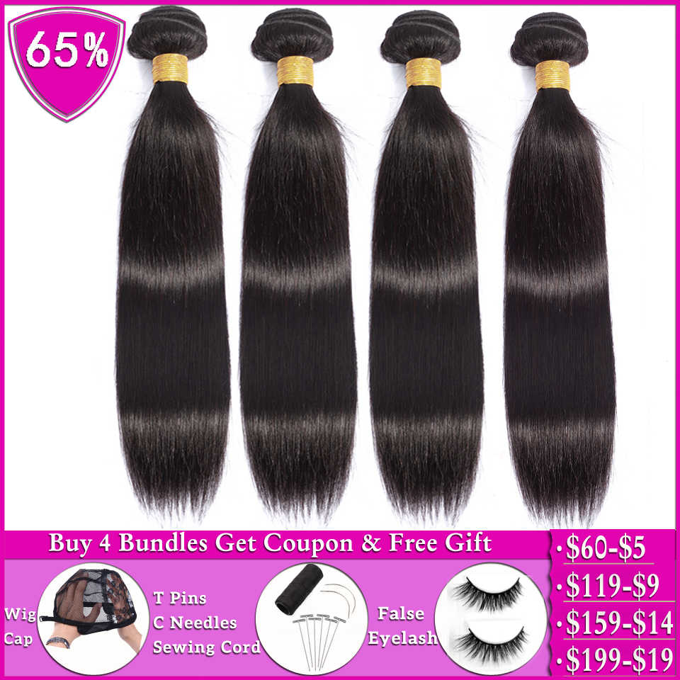 Beauty Grace Steil Haar Bundels 100% Human Hair 2 4 Bundels Deals Braziliaanse Hair Weave Bundels Niet-Remy Haar extension