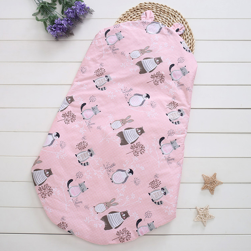 Bedding Wrap Sleepsack Cartoon Baby Blanket Toddler Kids Baby Blankets Newborn Cotton Cartoon Anti-kick Quilt Section Blanket