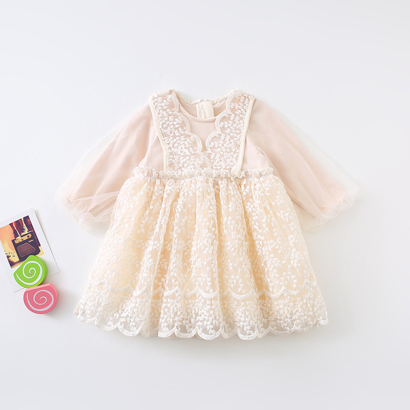 Image 5 - 2019 Autumn New Arrival korean style cotton all match princess lace grenadine long sleeve party dress for sweet cute baby girls-in Dresses from Mother & Kids
