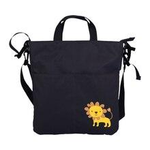 Sac portable pour maman, fourre tout à langer de maternité, sacs pour poussette pour bébé, organiseur noir gris