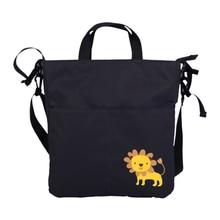 נייד שקית מומי עגלת אמא tote יולדות חיתול תיק עבור pram תינוק עגלת שקיות גלגל כיסא חיתול ארגונית שחור אפור