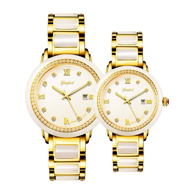 2019 Hot Sale Limited Wholesale Couple Watches Hetian Jade Mechanical Automatic Watch Fashion Calendar