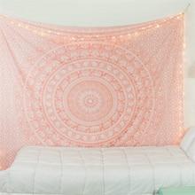 цена Bohemian Decor Tapestry Wall Fabric Pink Black Large Tenture Hippie Mandala Tapestry Elephant Boho Decor Dorm Wall Carpet Tapiz