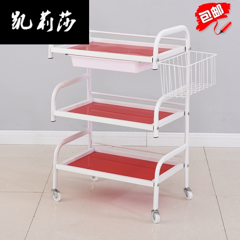 Hair Salon Trolley Hairdressing Tool Car Plastic Hand Carts Trolleys Carro Peluqueria Carrello Attrezzi Friseurwagen Cheap