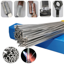 10pcs Aluminum Welding Rod Low Temperature Easy Melt Welding Cored Wire Repair Rod for Electric Power Drill Tap Polish and Paint