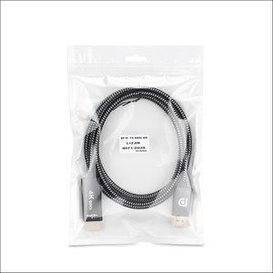 Image 5 - 2Meter Displayport al Cavo di HDMI DP a HDMI 2.0 Adapter Per Il Proiettore Display Port 4K 60Hz Audio converter Bianco Nero Treccia