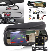 4.3 Car Rearview Mirror Monitor Display Auto Dimming With Bracket + Camera