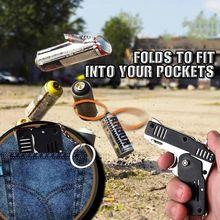 Креативный пистолет с резиновой лентой мини металлический складной