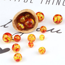 Материал изделия: натуральный оникс имитация янтаря бусы 6/8/10/12 мм Гладкие бусины камень для изготовления ювелирных изделий DIY браслет и юве...