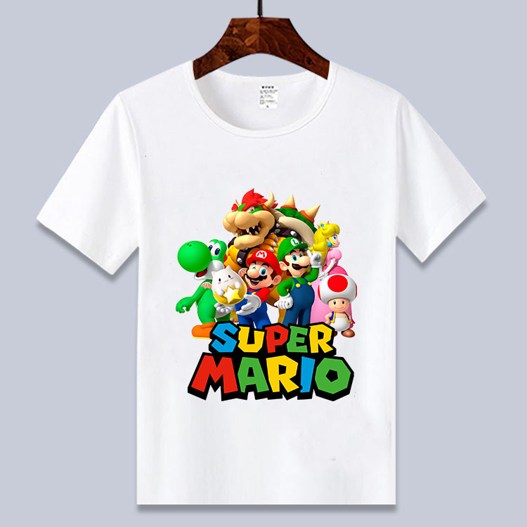 Cartoon Super Mario Yoshi  Print Toddler  Children T-shirts Kids Anime Summer Funny Tees Boys/Girls Tops Baby Clothing,BAL614
