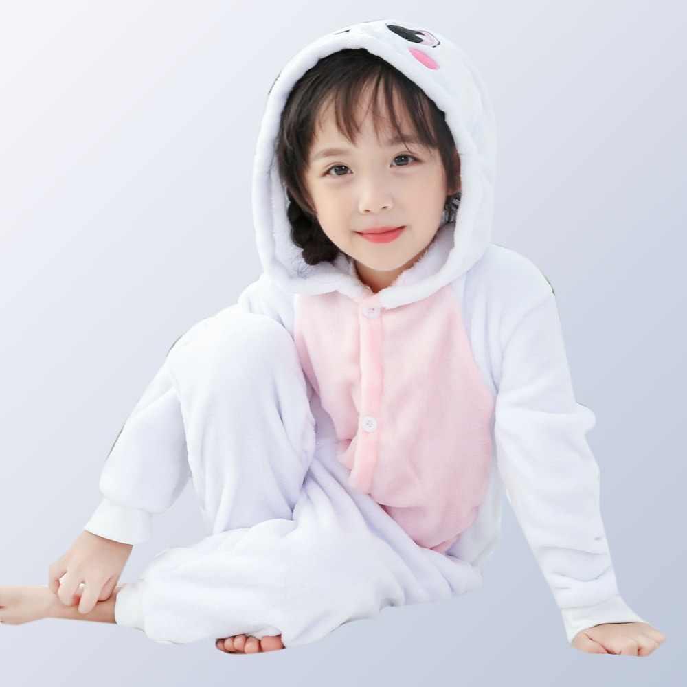 Пижама кигуруми с единорогом для мальчиков и девочек, Детский комбинезон с рисунком радуги и панды