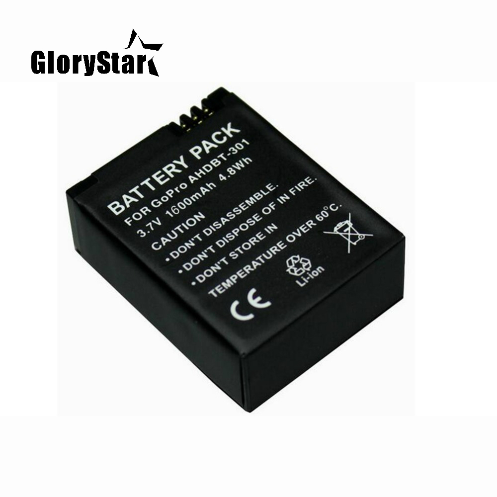 1600mah For Gopro Ahdbt-201/301 Camera Battery For Gopro Hero 3 3+ Ahdbt-301, Ahdbt201 Ahdbt301 Battery For Go Pro Accessories