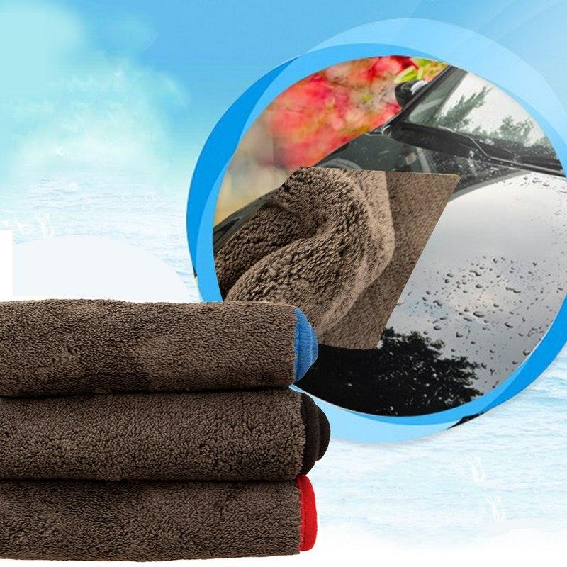 3 шт. 1200GSM плюшевые полотенца из микрофибры 40x40 см ткань для чистки автомобиля супер толстая плюшевая микрофибра уход за автомобилем мытье по