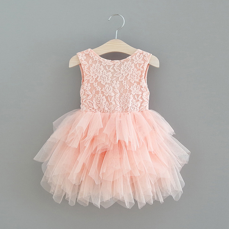 119-1-E1953-Lace Tulle Girls Dress