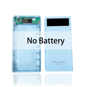 Image 5 - 7x18650 סוללה מחזיק DIY כוח בנק קופסא פלסטיק פגז מקרה סוג C USB יציאת תצוגת Powerbank תיבת אביזרים שחור לבן כחול