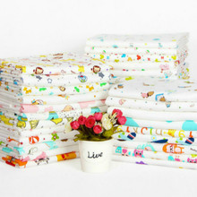 Buulqo Printed Cotton Knitting Fabric Stretchy Cartoon Interlock Jersey Cloth For DIY Sewing Uphostery Baby Clothing Tissue