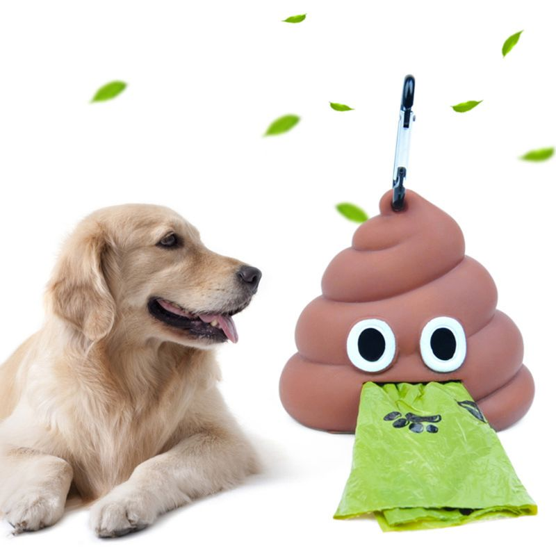 Outdoor Portable Waste Bag Dispenser Carrier Dog Poop Bag Holder Storage Box Pet Waste Bags Garbage Bag