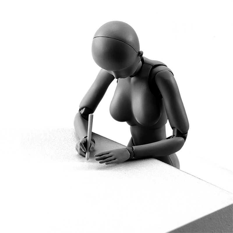 Figurines humaines pour hommes et femmes, figurines avec boîte, figurines de dessin du corps mobile, archétype d'anime, Ferrite