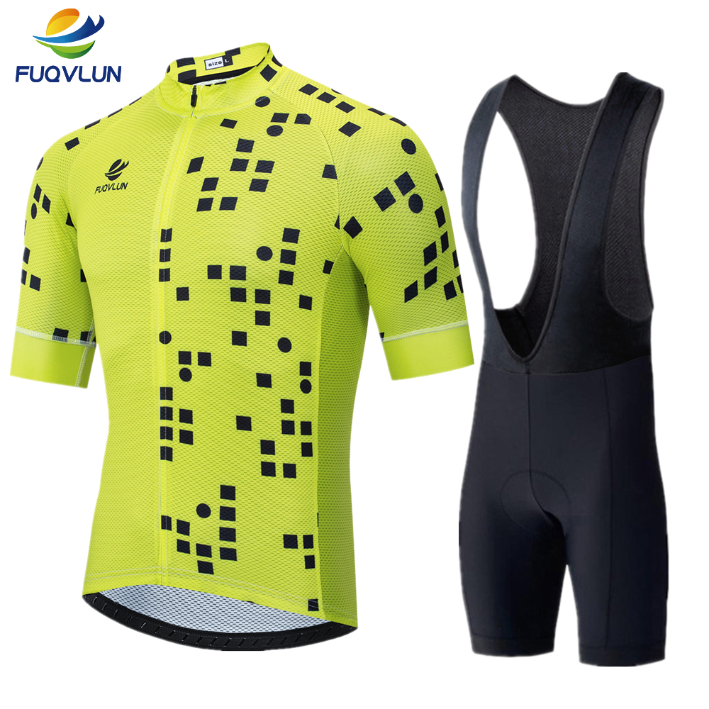 FUQVLUN Summer Cycling Jersey set Maillot Ropa Ciclismo Cycling Bicycle Clothing MTB Bike Clothes Uniform Cycling Set -65DE
