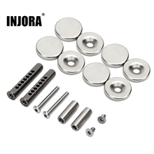 INJORA Metal Body Shell Post Mount with Magnet for 1/10 RC Crawler Car Axial SCX10 90046 Upgrade Parts