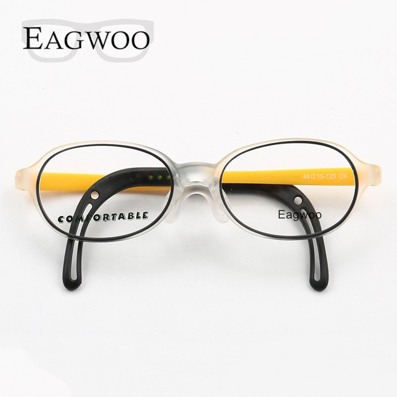 Image 3 - Eagwoo Silicon Soft Eyeglasses Children Optical Frame Little Boy Girl Glasses Temple with Adjustable String GreenMens Eyewear Frames   -