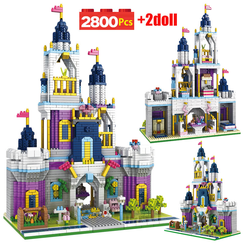 1500 pcs brinquedos para criancas amigos castelo jardim mini tijolos princesa conto de fadas castelo 3d