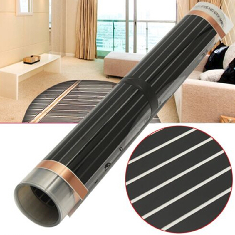 Infrared Carbon Underfloor Heating Film Foil Mat 220W For Laminate Solid Floor Home Electrical Warm Heating Mat 400W/m2