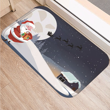 цена на 40x60cm Christmas Diy Print Floor Mat Bathroom Ground Mat Slip Door Bath Pad Rug Living Room Kitchen Carpet Home Decor
