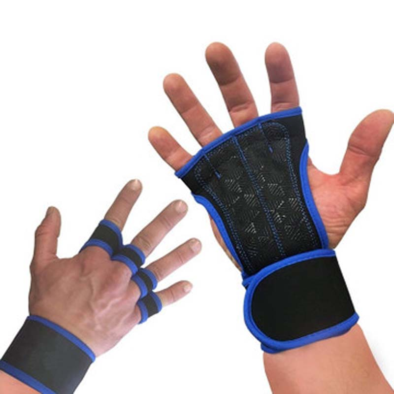 Wearable Breathable Fitness Gloves Non-slip Weight Palm Gloves