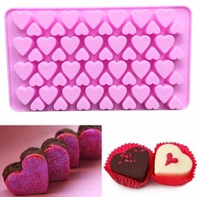 Valentines Day series gift 56-hole DIY love-shaped silicone chocolate muffin cake mold  easy to take off