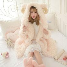 Осенне зимнее милое Женское пальто из искусственного меха с