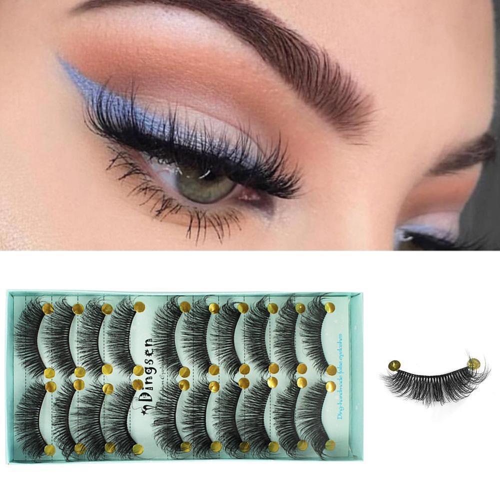 5 Pairs Natural False Eyelashes Fake Lashes Long Makeup 3d Mink Lashes Eyelash Extension Mink Eyelashes For Beauty