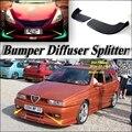Автомобильный сплиттер диффузор бампер Canard губ для Alfa Romeo 33 155 AR тюнинг тела комплект/Автомобильный передний дефлектор Fin подбородок снижени...