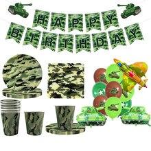 Camuflagem decorações de festa utensílios de mesa balões látex tema militar do exército para o casamento festa de aniversário do chá de bebê favor supplie