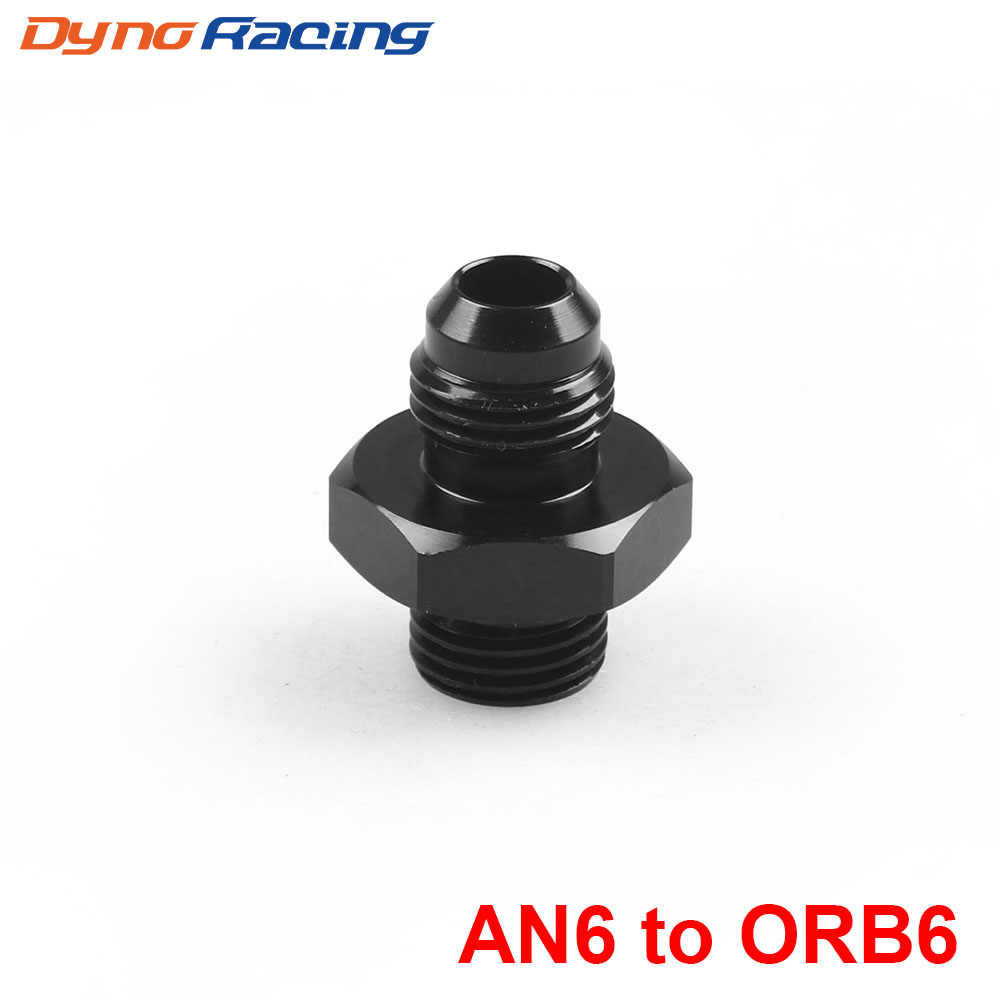 ORB-6 O-แหวน BOSS AN6 6AN TO AN6 6AN ชาย ADAPTER FITTING สีดำ BX101903