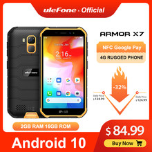 Ulefone Rüstung X7 5,0-zoll Android10 Robuste Wasserdichte Smartphone Handy 2GB 16GB ip68 Quad-core NFC 4G LTE Handy(China)
