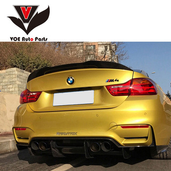 F82 PSM-style Carbon Fiber Rear Trunk Wing Spoiler for BMW 4 Series M4 F82 2-door Coupe Trunk Car Boot Lip 2014 + image