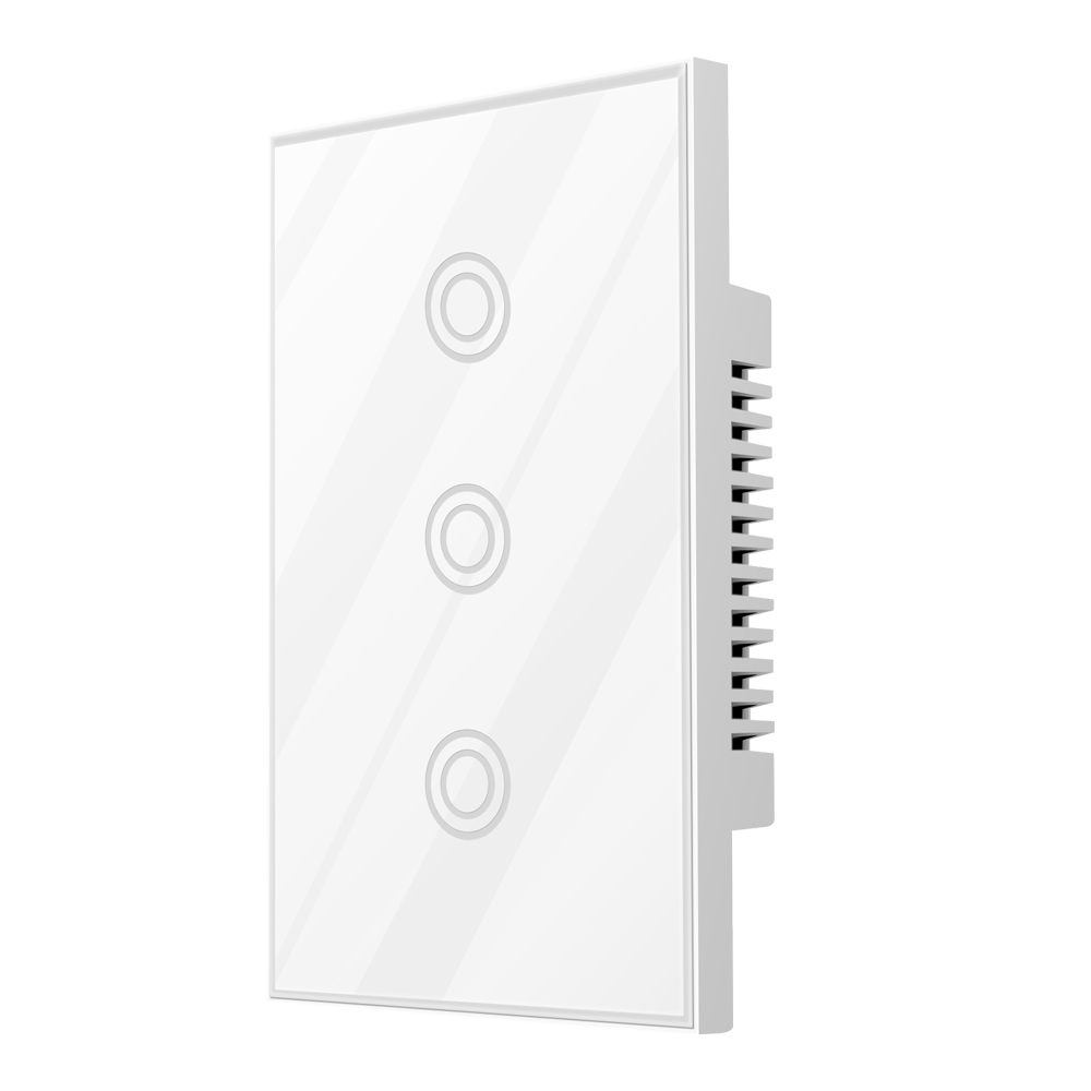 NEO COOLCAM 3CH Z-wave Plus US Touch Switch 3 Gang Smart Light Switch Panel EU 868.4MZH Compatiable With Smartthings Fibaro Vera
