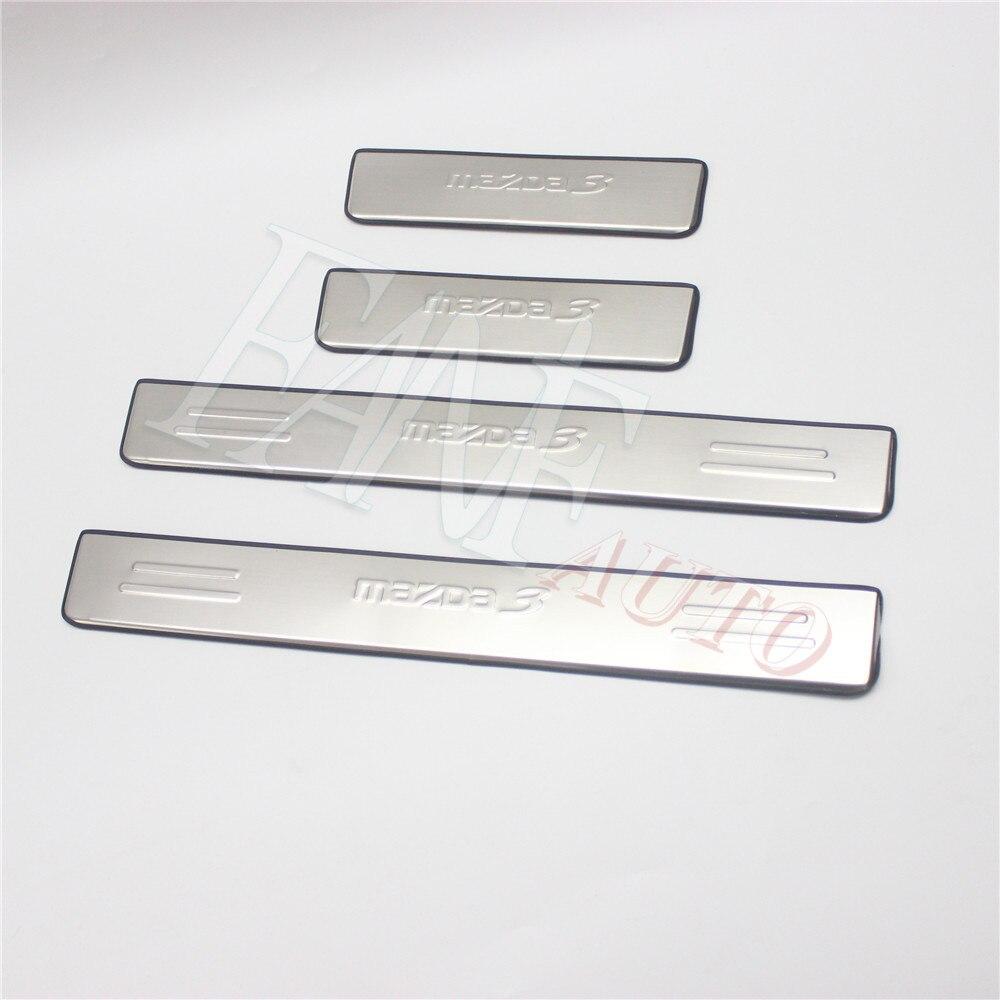 4Pcs For 2014 Toyota Corolla Outside Door Sill Scuff Plate Guard Trim Steel
