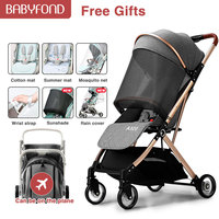 Baby Newborn Stroller Lightweight Foldable Can Sitting and Lying Umbrella Car Simple Portable sit plane Children Travel Trolley