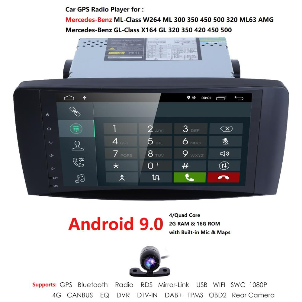 9 Inch Android 9.0 Car NO-DVD Player For <font><b>Mercedes</b></font> Benz <font><b>ML</b></font> CLASS W164 ML350 ML500 X164 GL320 GL500 GL350 GL450 Camera RDS DTV-IN image