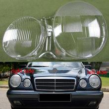 ل 1995 2003 مرسيدس بنز W210 E200 E240 E260 E280 غطاء المصباح قذيفة شفافة كشافات قذيفة عاكس الضوء عدسة الزجاج