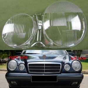 Image 1 - עבור 1995 2003 מרצדס בנץ W210 E200 E240 E260 E280 פנס כיסוי שקוף פגז פגז פנס אהיל זכוכית עדשה