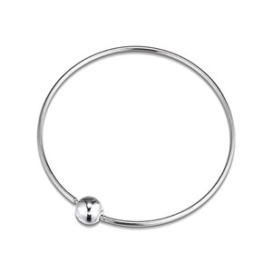 Image 4 - Me Collection Women Bracelets Signature Round Clasp 925 Sterling Silver Bracelets & Bangles for Women Charm Jewelry Thin Chain