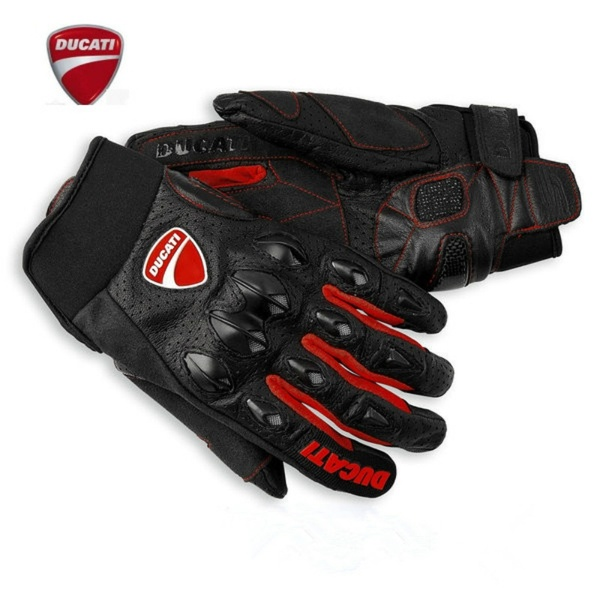 Ducati  Leather Racing Glove Motorcycle Gloves Ride Bike Driving Bicycle Cycling Motorbike Sports Moto Racing
