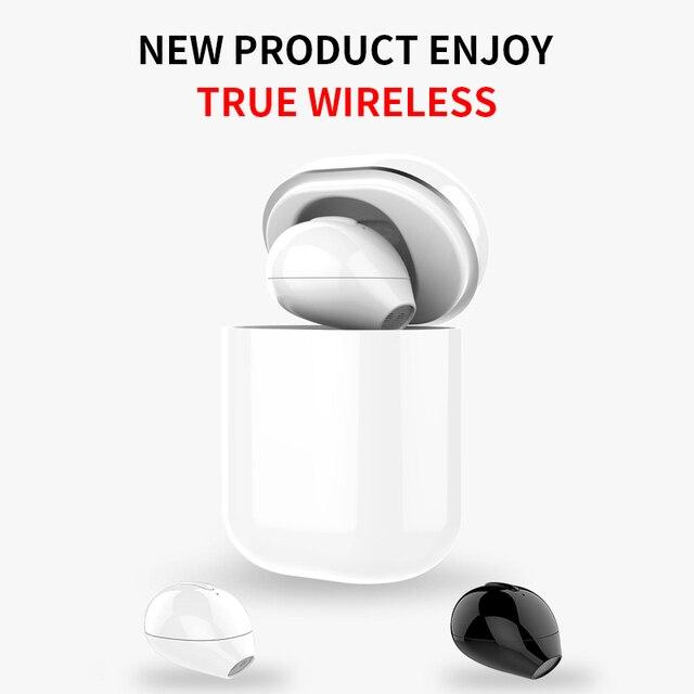 SQRMINI X20 Ultra מיני אלחוטי אוזניות נסתרת קטן Bluetooth אוזניות 3 שעות מוסיקה לשחק כפתור שליטה Earbud עם תשלום Cas
